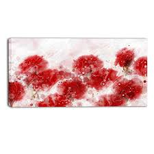 red blend floral canvas wall art print on wall art red with red blend floral canvas wall art print accent canvas