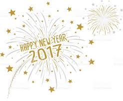 new years fireworks white background. Firework With Happy New Year 2017 On White Background Vector Art Illustration And Years Fireworks