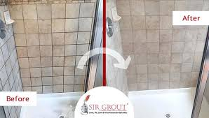 remove mold from bathroom grout before and after picture of a grout sealing service in springs