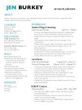 Account Planner Resumes - Kleo.beachfix.co