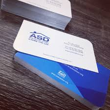 Business Cards With A Leaf Cut By Asd Imprint By Printburnercom