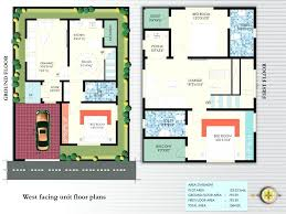 house plan for 30x50 plot awesome west facing house thecreationfo
