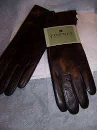 womens rabbit fur lined leather gloves fownes thumbnail 3