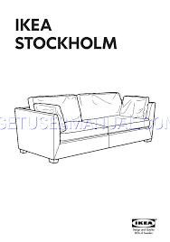 read ikea stockholm sofa frame 3 5 seat assembly instruction