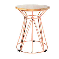 gold side table rose wire si by la accent with drawer
