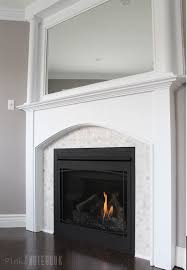 fireplace marble tile. how to update a dated tile fireplace and mirrored mantel -- such great diy marble t