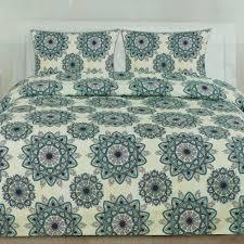 details about ashley green mandala pattern reversible 3 piece duvet cover set