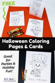 Choose one of my printable halloween cards and print it now!! Free Halloween Coloring Pages Cards For Special Holiday Fun Rock Your Homeschool