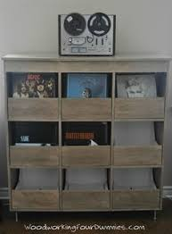 Vinyl Record Cabinet Storage