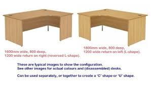 office desk l. Unique Desk Maple Office Desk Lshape Curved Panel End Intended Office Desk L K