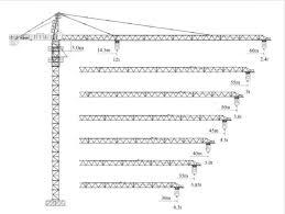 Tower Crane Lifting Capacity Chart Xcmg Tower Crane Qtz200 6024 12 12 Tons Max Load