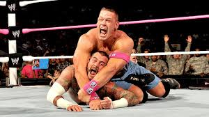 grisham give credit to enzo folks he showed no fear going right into the deep end as john cena though was having none of it he planted the hackensack