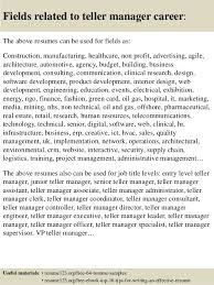 ... 16. Fields related to teller manager ...