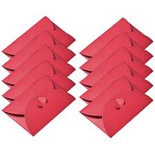 Hestya 50 Pieces Kraft Paper Envelopes Mini Gift Card Envelope With Heart Clasp For Christmas Gift Cards Valentines Day Diy Craft Red