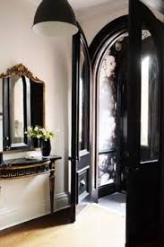 exquisite wallpaper entry and dark door christine dovey