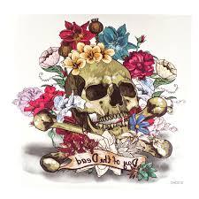 флеш тату череп с цветами купить по лучшей цене Starlook