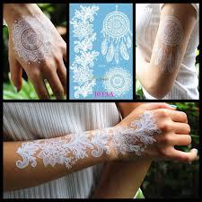 белая хна Dreamcatcher временная татуировка для женщин свадьба боди арт татуировки