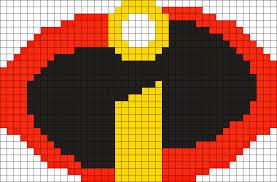 The Incredibles Logo Perler Perler Bead Pattern | Bead Sprites ...