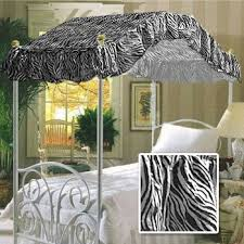Canopy Bed Drape Fabric Top - Twin Size Zebra Print - Perfect For Your Existing Canopy Bed Frame