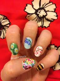 Mother S Day Nail Designs Spring Flowers And Mothers Day Nail Art Nails Nail Art