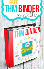 Free Trim Healthy Mama Binder Printables Measuring Flower