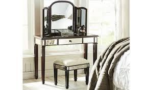 brown vanity table