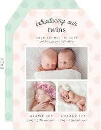 twin birth announcements photo cards twin birth announcements twin baby announcement