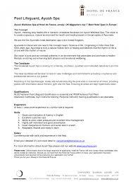 Lifeguard Resume Skills Lifeguard Resume Samples Summary Skills Bullet Points Resumes 12
