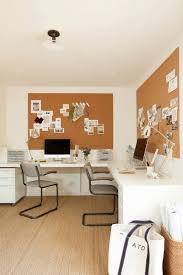l shaped desk for two. Unique For Lovely Office Boasts An Rolling File Cabinets Tucked Under A Builtin L  Shaped Desk For Two Situated Matching Cork Boards Atop Jute Rug And Shaped Desk For Two