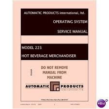 Automatic Products Vending Machine Manual Amazing USERSERVICE MANUAL For AP48 APi48 CoffeeHot Beverage Vending