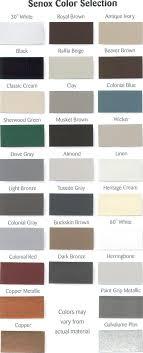 Senox Color Chart