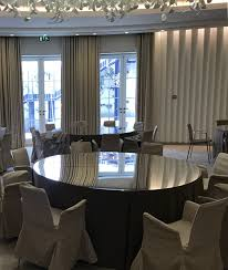 mirro table tops hire in london