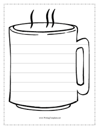 hot chocolate mug writing template. Unique Mug The Coffee Cup In This Free Printable Writing Template Might Be Filled  With Steaming Tea Or Hot Cocoa But On The Outside It Has Seven Lines For Practicing  In Hot Chocolate Mug Writing Template Pinterest