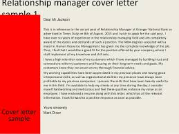 Sample Cover Letter For Client Relationship Manager Relationship Manager Cover Letter