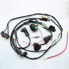 online buy whole atv wiring harness from atv wiring complete electric start engine wiring harness loom 110 125cc quad bike atv buggy shipping