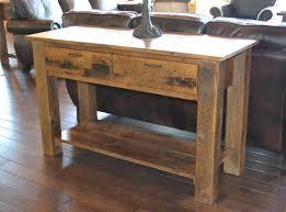 recycled wooden furniture. Teton 2-Drawer Sofa Table Recycled Wooden Furniture