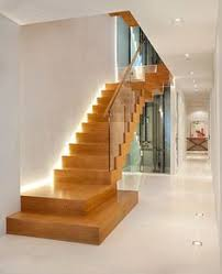 home interior lighting design ideas. splendid wooden stair case ideas in staircase contemporary design with glass banister lit up home interior lighting o