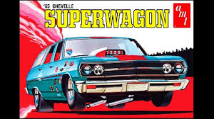 1965 Chevy Chevelle SuperWagon ® AMT model kit 125 scale UNBOXING ...