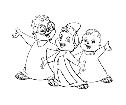 alvin and the chipmunks coloring pages and the chipmunks coloring page printable and the chipmunks coloring