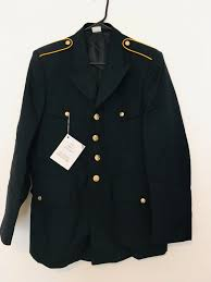 New Us Army Dress Blue Enlisted Mens Uniform Coat Jacket Size 39r Cla Asu