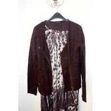 Plum panther print dress Ikks ...