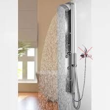 Edelstahl Spiegel Duschpaneel Von Sanlingo Wasserfall Und Regendusche Für Armatur