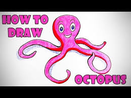Small Picture How to Draw an Octopus How to Draw Sea Animals Easy Step by Step