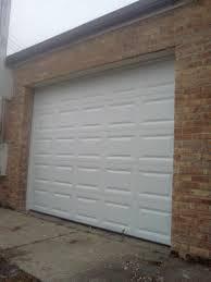8 10 white garage door installed