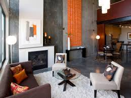 Orange And Brown Living Room Photo Page Hgtv