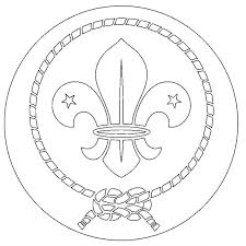 World Crest Coloring Page Scouts