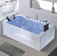 whirlpool jetted bathtub with big waterfall tv 86702
