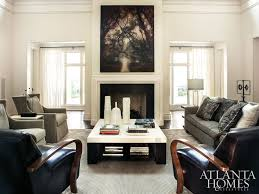 Interior decorator atlanta family room Dining Dark And Light Bring Contrast To This Ubercool Family Room Barbaras Got The Wonderful Barbara Westbrook