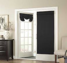 68 inch dark black solid color blackout french door curtain ideas of patio door curtains uk