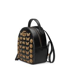 gucci bags backpack. gg marmont animal studs leather backpack gucci bags u